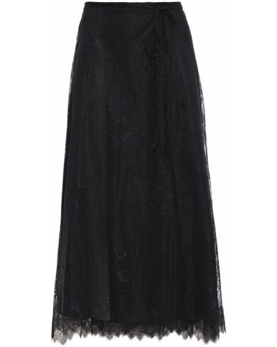 Czarna spódnica midi kopertowa koronkowa Alexachung