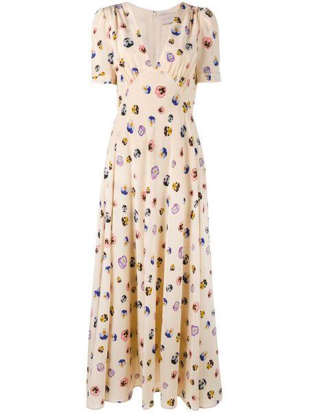 Jedwab beżowy sukienka Christopher Kane