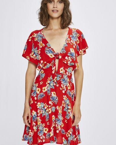 Платье мини в полоску с V-образным вырезом Answear