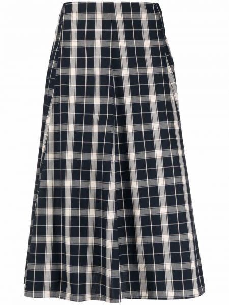 Хлопковая синяя прямая юбка на шпильке Woolrich