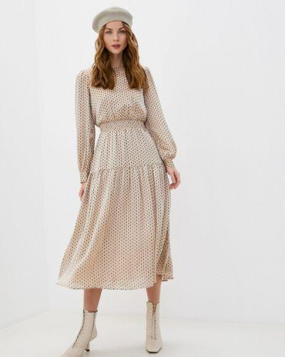 Прямое бежевое платье Akhmadullina Dreams