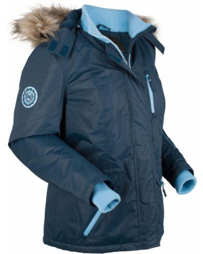 Куртка с капюшоном с карманами утепленная Bonprix