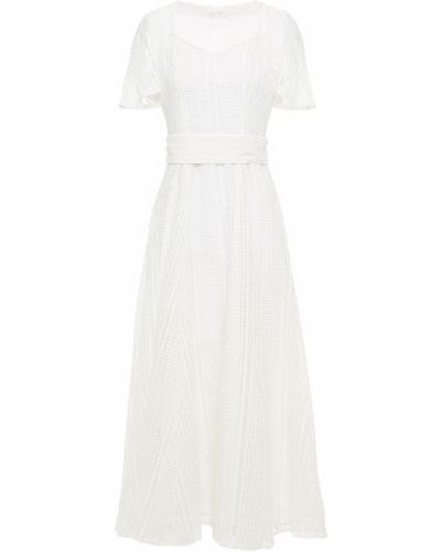 Хлопковое платье миди - белое Goat