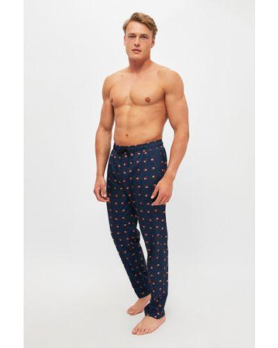 Niebieska piżama bawełniana Trendyol