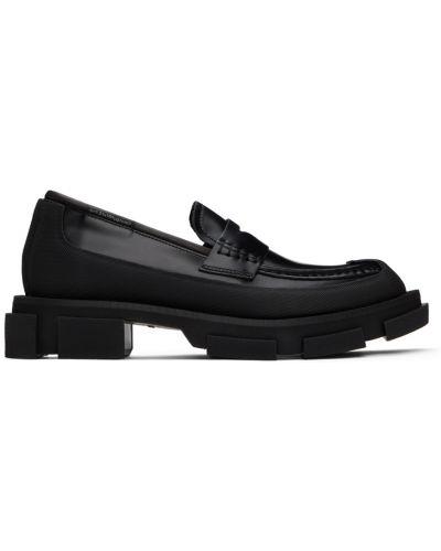 Czarne loafers Both