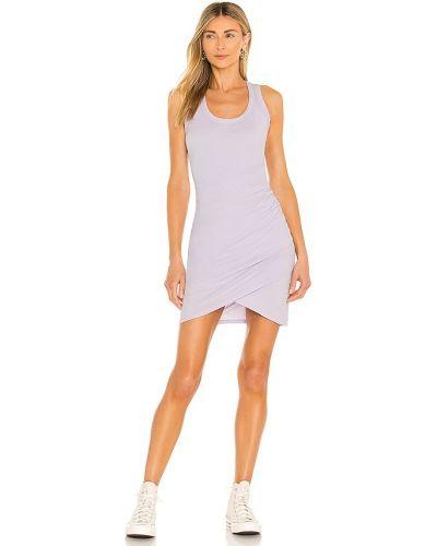 Трикотажное платье - фиолетовое Bobi