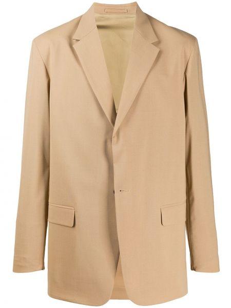 Шерстяной коричневый пиджак свободного кроя с карманами Cmmn Swdn
