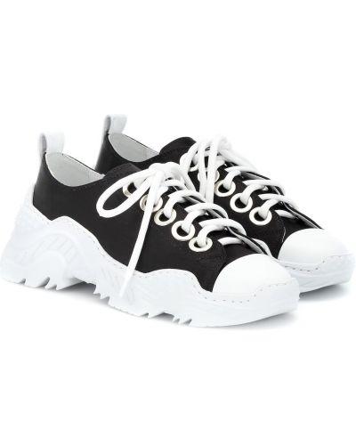Кожаные кроссовки черные сатиновый N°21