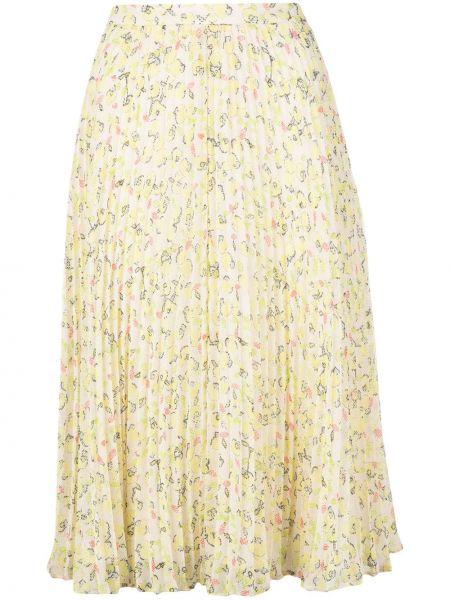 Плиссированная юбка миди с цветочным принтом Jason Wu