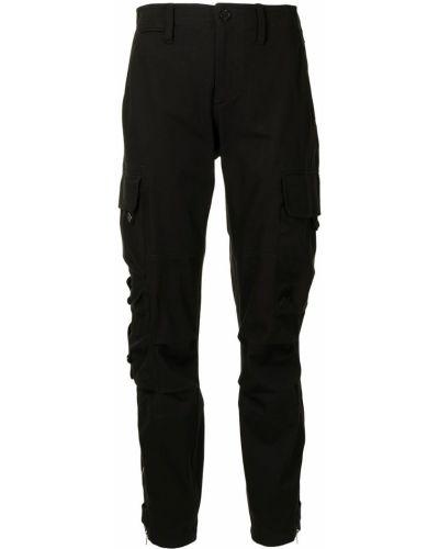 Czarne spodnie z paskiem Ralph Lauren Collection