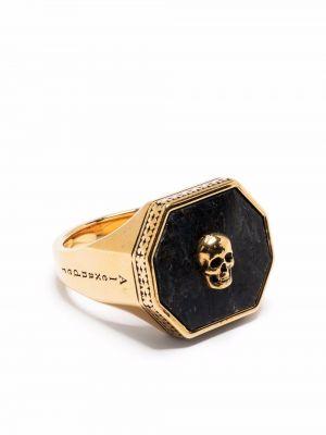 Złoty pierścionek Alexander Mcqueen