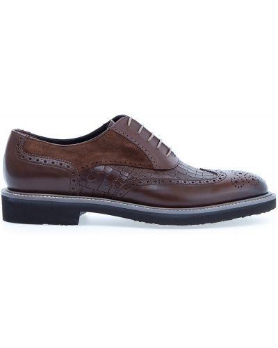 Туфли на шнуровке замшевые из искусственной кожи Moreschi