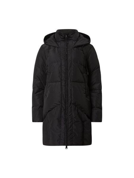 Czarna kurtka z kapturem w paski Luisa Cerano