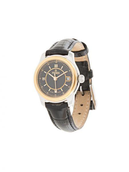 Zegarek czarny do twarzy Fendi Pre-owned