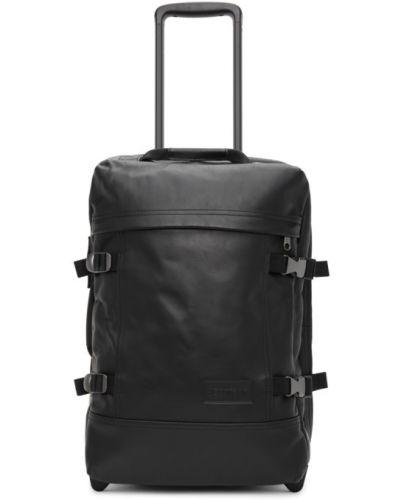 Z paskiem baza czarny walizka z prawdziwej skóry Eastpak