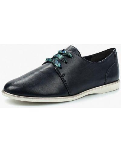 Синие кожаные ботинки Tamaris