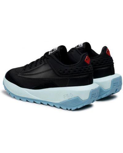 Czarne sneakersy Fila
