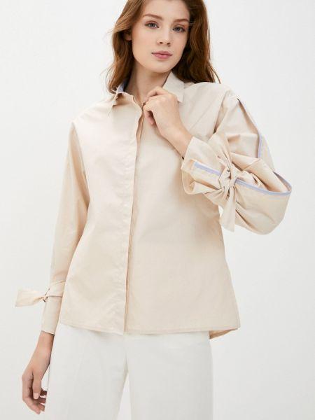 Бежевая блузка с длинным рукавом снежная королева