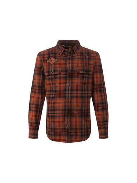 Рубашка с длинным рукавом в клетку фланелевая Harley Davidson