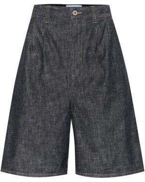 Однобортные джинсовые шорты со стразами Loewe