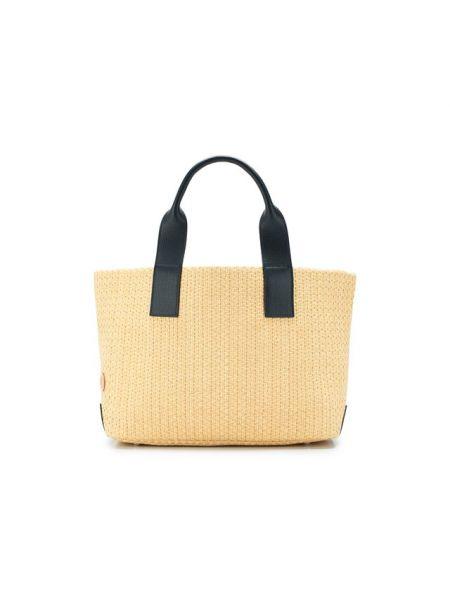 Кожаная сумка шоппер с ручками Bonfanti