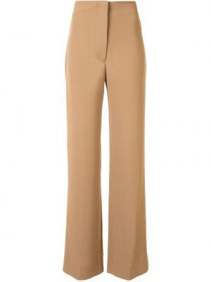 Коричневые прямые брюки с потайной застежкой Manning Cartell
