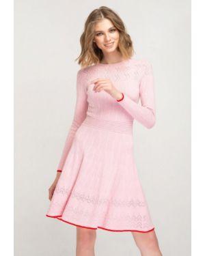 Платье розовое вязаное Fors