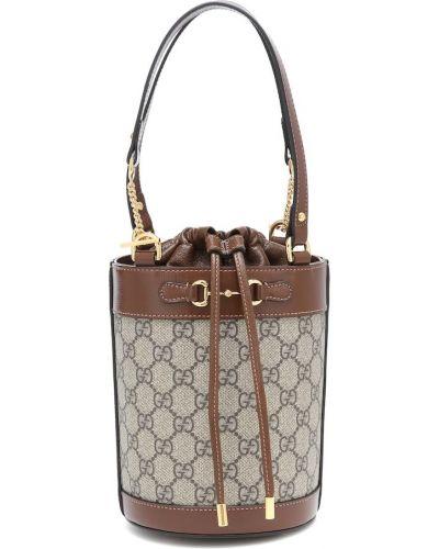 Bawełna beżowy bawełna mini torebka Gucci