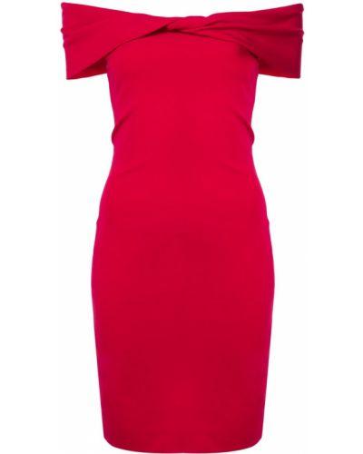 Платье с открытыми плечами - красное Nicole Miller