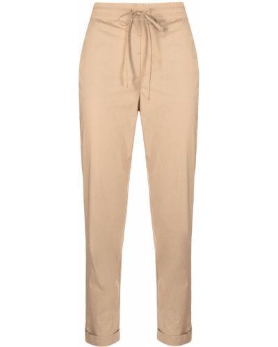 Прямые бежевые укороченные брюки с карманами Ballantyne
