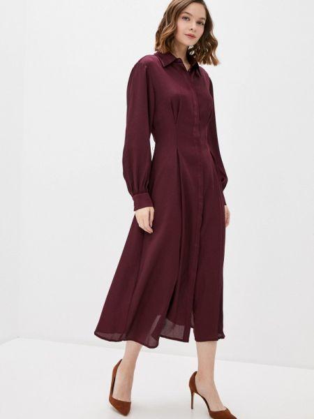 Платье бордовый прямое Ovs
