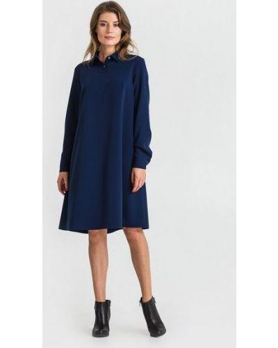 Повседневное синее платье из вискозы Vovk