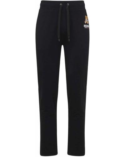 Черные брюки с логотипом Moschino Underwear