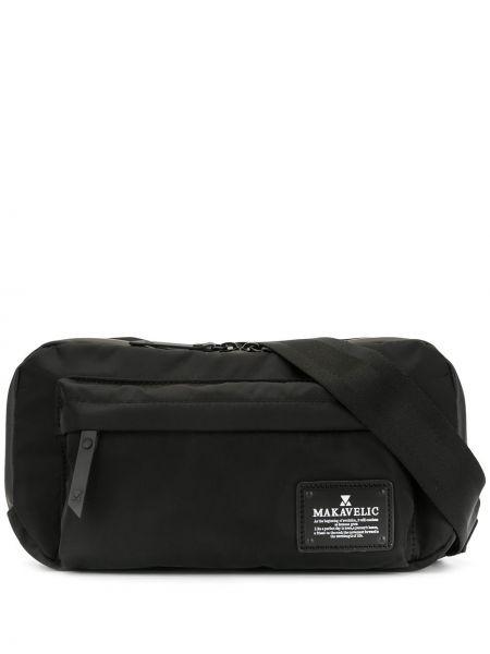 Черная поясная сумка с помпоном Makavelic