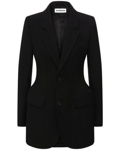 Шерстяной пиджак с подкладкой Balenciaga