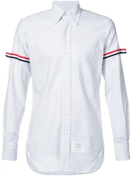 Koszula z długim rękawem w paski z paskami Thom Browne