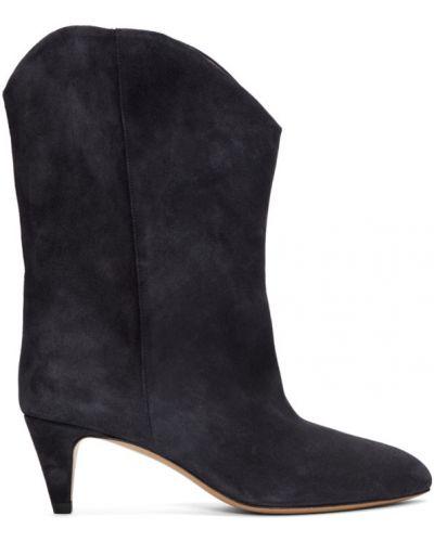 Ботинки на каблуке черные без каблука Isabel Marant