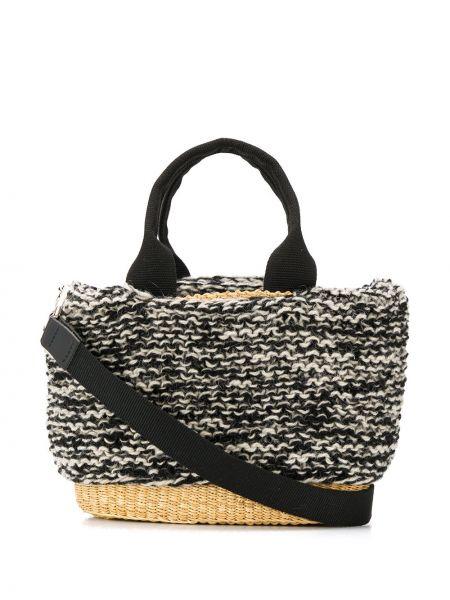 Черная соломенная сумка-тоут Muun
