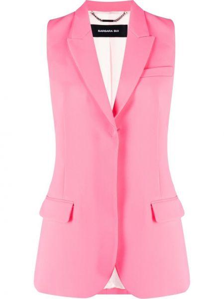 Różowa kamizelka bez rękawów z wiskozy Barbara Bui