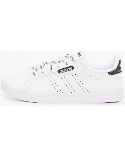 Кожаные белые низкие кеды Adidas