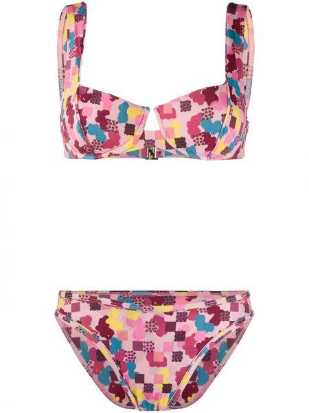 Нейлоновый розовый купальник с чашками Sian Swimwear
