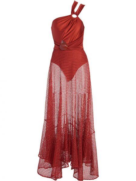 Пляжное красное платье макси без рукавов Patbo