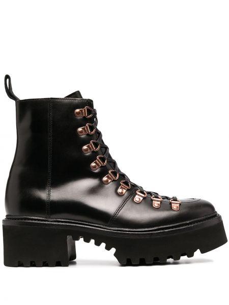 Ботильоны на каблуке - черные Grenson
