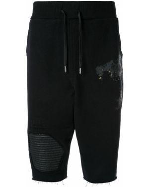 Спортивные шорты черные с карманами Rh45