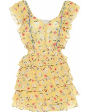 Платье мини с цветочным принтом модерн Loveshackfancy