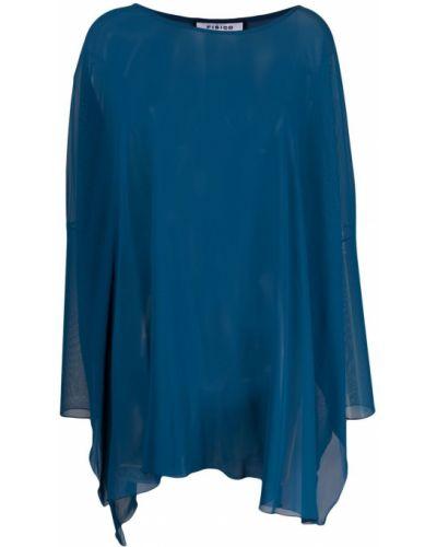 Синяя кофта полупрозрачная Fisico