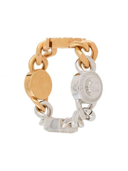 Золотистый браслет золотой Versace
