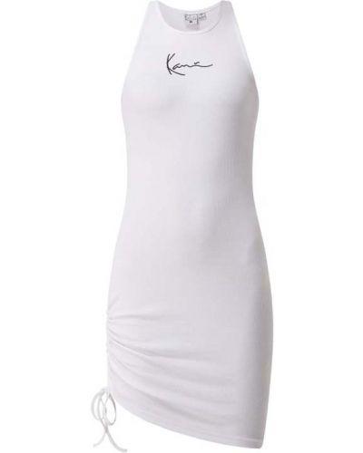 Biała sukienka prążkowana bawełniana Karl Kani