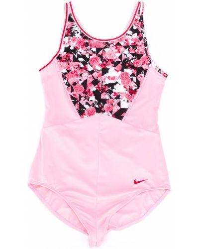 Розовый пляжный купальник с шортами с вырезом Nike Kids