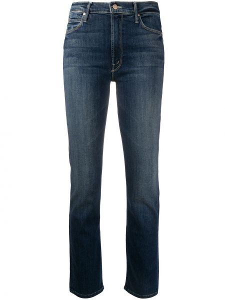 Укороченные джинсы с воротником на пуговицах с поясом в стиле бохо Mother
